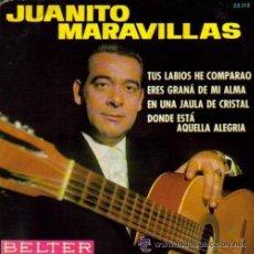 Discos de vinilo: JUANITO MARAVILLAS - EP, 1967 (GUITARRA: ANTONIO ARENAS). Lote 22171571