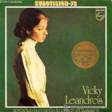 Disques de vinyle: VICKY LEANDROS - APRÈS TOI - EUROVISIÓN 1972. Lote 22172199