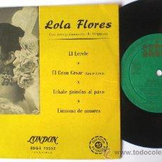 Discos de vinilo: LOLA FLORES - COLUMBIA SEECO - EP SPAIN EL LERELE - DIFERENTE LABEL. Lote 26902969