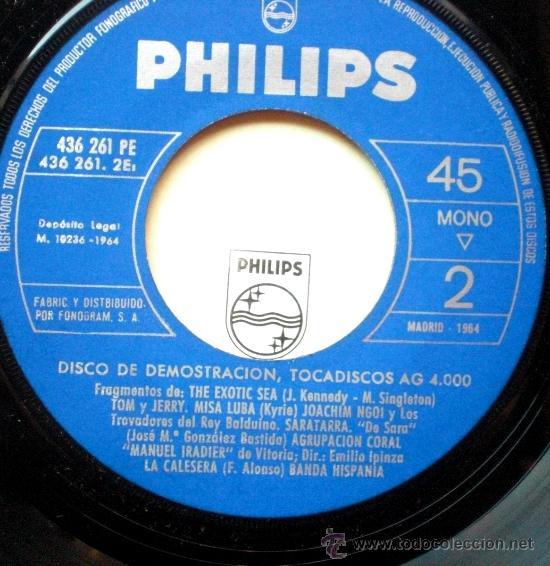 LOS SONOR EP SPAIN 1964 PROMO PHILIPS - DISCO DEMOSTRACION (Música - Discos de Vinilo - EPs - Grupos Españoles 50 y 60)