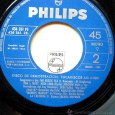Discos de vinilo: LOS SONOR EP SPAIN 1964 PROMO PHILIPS - DISCO DEMOSTRACION. Lote 24985521
