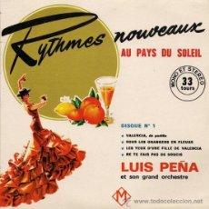 Discos de vinilo: LUIS PEÑA ET SON GRAND ORCHESTRE - RYTHMES NOUVEAUX AU PAYS DU SOLEIL. Lote 26522597