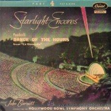 Discos de vinilo: STARLIGHT ENCORES PONCHIELLI DANCE OF THE HOURS FROM LA GIOCONDA JOHN BARNETT. Lote 35184698