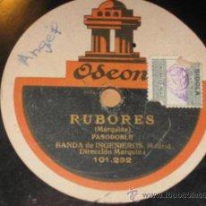 Discos de vinilo: RUBORES, PASODOBLE Y LA JAVA DE MINISTRILES. MARQUINA. BANDA DE INGENIEROS DE MADRID. 101232 . Lote 27603388