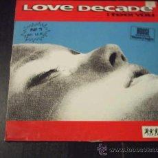Discos de vinilo: 12 - MAXI. LOVE DECADE - I FEEL YOU. Lote 27609101
