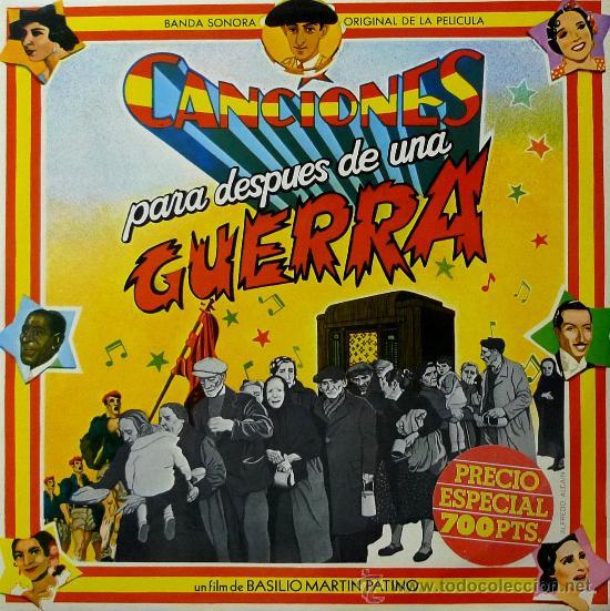 CANCIONES PARA DESPUES DE UN GUERRA - ORIGINAL BANDA SONORA - DOBLE PORTADA - 1976 - 2 LP (Música - Discos - LP Vinilo - Flamenco, Canción española y Cuplé)