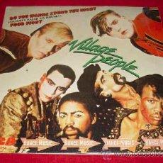 Discos de vinilo: VILLAGE PEOPLE - DO YOU WANNA SPEND THE NIGHT + FOOT FIGHT - SINGLE 1981. Lote 22268985