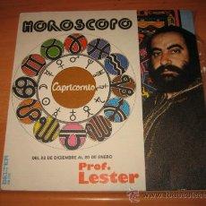 Discos de vinilo: HOROSCOPO DEL PROFESOR LESTER CAPRICORNIO BELTER . Lote 22305872