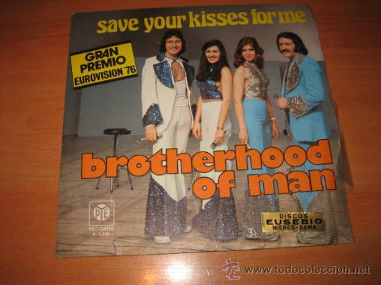 BROTHERHOOD OF MAN SAVE YOUR KISSES FOR ME GRAN PREMIO EUROVISION 76 (Música - Discos - Singles Vinilo - Festival de Eurovisión)
