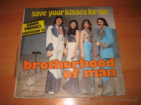 Discos de vinilo: BROTHERHOOD OF MAN SAVE YOUR KISSES FOR ME GRAN PREMIO EUROVISION 76 - Foto 2 - 22309379