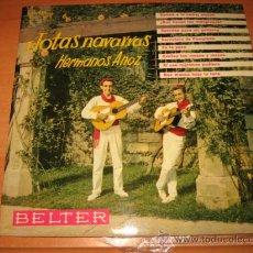 Discos de vinilo: JOTAS NAVARRAS HERMANOS ANOZ BELTER 1961. Lote 22312845