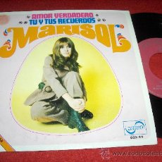 "Discos de vinil: MARISOL AMOR VERDADERO / TU Y TUS RECUERDOS 7"" SINGLE 1969 ZAFIRO PROMO. Lote 23625741"