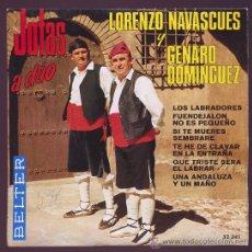 Discos de vinilo: JOTAS A DUO LORENZO NAVASCUES Y GENARO DOMINGUEZ 1969. Lote 25628222
