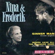 Discos de vinilo: NINA & FREDERICK SENCILLO AÑO 69. Lote 26864730