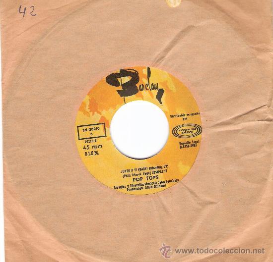 POP TOPS SONOPLAY 1969 (Música - Discos - Singles Vinilo - Pop - Rock Extranjero de los 50 y 60)