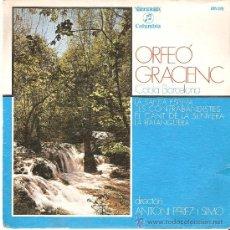 Discos de vinilo: COBLA BARCELONA - ORFEÓ GRACIENE - SARDANAS. Lote 22364817