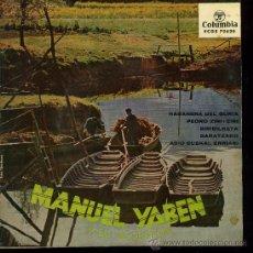 Discos de vinilo: MANUEL YABEN - HABANERA DE GURIA / PEDRO ZIRI-ZIRI / BIRIBILKETA / BARATZAKO - EP 1962. Lote 98118054