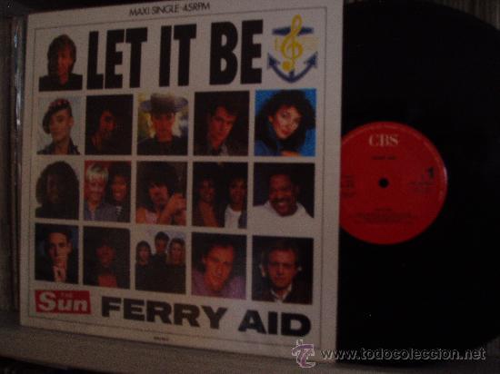 PAUL MCCARTNEY FERRY AID MAXI LET IT BE BEATLES SPAIN (Música - Discos de Vinilo - Maxi Singles - Pop - Rock Extranjero de los 50 y 60)