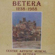 Discos de vinilo: CENTRE ARTISTIC MUSICAL DE BÉTERA - 1988 (COMO NUEVO). Lote 22475716