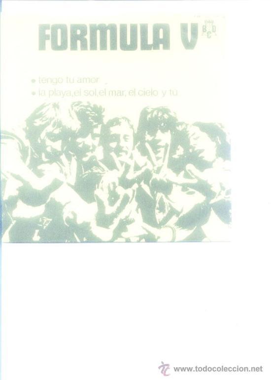 FORMULA V.1970.TENGO TU AMOR. (Música - Discos - Singles Vinilo - Grupos Españoles de los 70 y 80)