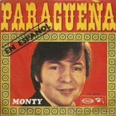 Discos de vinilo: MONTY CANTA EN ESPAÑOL SINGLE SELLO MOVIEPLAY AÑO 1970. Lote 22488808