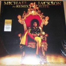 Discos de vinilo: MICHAEL JACKSON THE REMIX SUITE- LP X2 PORTADA GATERFORD EDICION USA-NUEVO-. Lote 22524273
