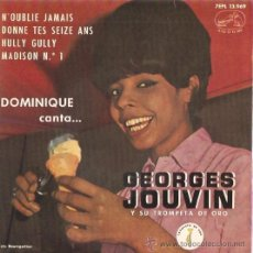 Discos de vinilo: EP GOERGES JOUVIN - N'OUBLIE JAMAIS -DONNE TES SEIZE ANS - HULLY GULLY - MADISON Nº1. Lote 22526488