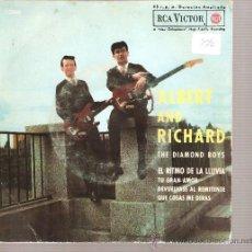 Discos de vinilo: EP ALBERT HAMMOND AND RICHARD CARTWRIGHT, THE DIAMOND BOYS : EL RITMO DE LA LLUVIA. Lote 22531687