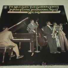 Discos de vinilo: THE MILES DAVIS / TADD DAMERON QUINTET (IN PARIS FESTIVAL INTERNATIONAL DE JAZZ MAY,1949) JAPON-1977. Lote 22533887