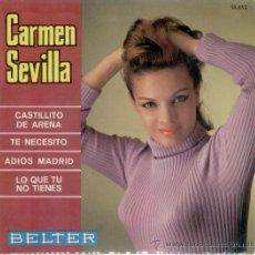 Discos de vinilo: CARMEN SEVILLA-- CASTILLITO DE ARENA +3 -- EP 1967 - EX/ EX . Lote 26602781