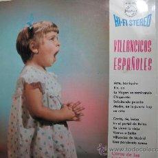 Discos de vinilo: VILLANCICOS ESPAÑOLES -COROS DE ESCUELAS AVEMARIANAS-. Lote 22534431