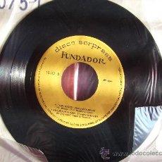 FUNDADOR-TEMA DE LARA-EXTRAÑOS EN LA NOCHE--SINGLE 45 RPM-1967-SIN FUNDA ORIGINAL-