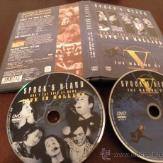 Discos de vinilo: SPOCK'S BEARD - 2 DVD - LIVE IN HOLLAND + MAKING OF V AND MORE - NEAL MORSE - NUEVO. Lote 26596543