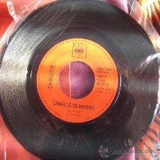 Discos de vinilo: CHRISTIE-CABALLO DE HIERRO-SINGLE 45 RPM-1972-SIN FUNDA ORIGINAL. Lote 23619310