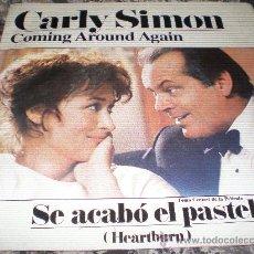 Discos de vinilo: CARLY SIMON- COMING AROUND AGAIN- MADE IN SPAIN IN 1986.. Lote 22635760
