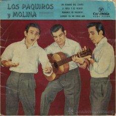 Discos de vinilo: LOS PAQUIROS Y MOLINA - EP, 1960. Lote 25167106