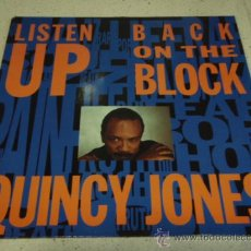 Discos de vinilo: QUINCY JONES (BACK ON THE BLOCK) CLUB TRIP PART ONE (LISTEN UP) FULL HOUSE MIX USA-1989 MAXI45. Lote 22686119