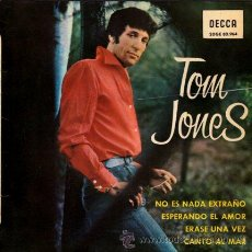 Discos de vinilo: TOM JONES ··· IT'S NOT UNUSUAL / TO WAIT FOR LOVE / ONCE UPON A TIME / I TELL... · (EP 45 RPM). Lote 52197672
