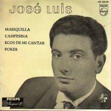 Discos de vinilo: DISCO DE JOSE LUIS Y SU GUITARRA DE PHILIPS MARIQUILLA 1959. Lote 22760027