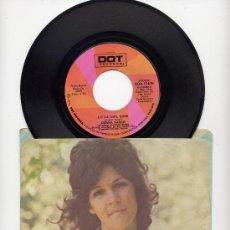 Discos de vinilo: DONNA FARGO. EE.UU. 45 RPM. LITTLE GIRL GONE+JUST CALL ME. DOT RCDS. 1973. Lote 26949036