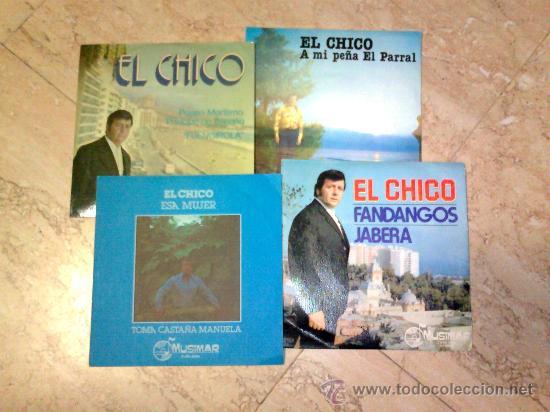LOTE 4 DISCOS DE FLAMENCO-ARTISTA -EL CHICO- (Música - Discos de Vinilo - EPs - Flamenco, Canción española y Cuplé)