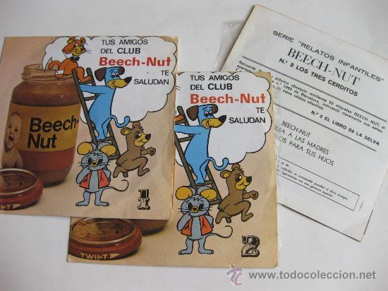 3 DISCOS SINGLE CON LOS TRES CUENTOS DE PUBLICIDAD DE BEECH NUT - NUTRIBEN (Música - Discos - LPs Vinilo - Música Infantil)