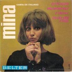 Discos de vinilo: MINA - CITTÁ VUOTA + 3 (EP DE4 CANCIONES) BELTER 1966 - VG+/VG+. Lote 25823396