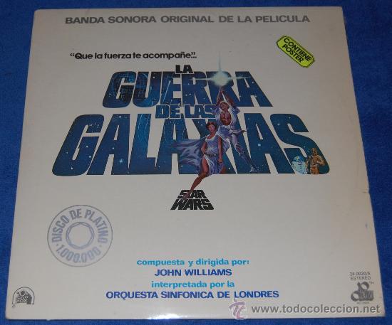 STAR WARS - LA GUERRA DE LAS GALAXIAS ¡CON POSTER! (Música - Discos - Singles Vinilo - Bandas Sonoras y Actores)