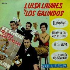 Discos de vinilo: LUISA LINARES Y LOS GALINDOS - HORÓSCOPO - FESTIVAL MELODÍA DE LA COSTA VERDE - EP, 1961. Lote 27245181