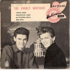 Discos de vinilo: THE EVERLY BROTHERS - ADIOS AMOR + 3 (EP DE 4 CANCIONES) HISPAVOX 1959 - VG+/VG+. Lote 27109398