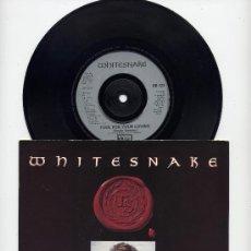 Discos de vinilo: WHITESNAKE. UK 45 RPM. FOOL FOR YOUR LOVING+SLOW POKE MUSIC. EMI 1989. Lote 27593461