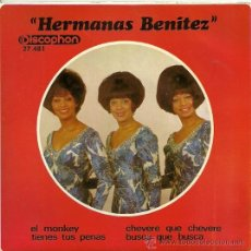 Discos de vinilo: HERMANAS BENITEZ EP SELLO DISCOPHON AÑO 1966. Lote 22866743