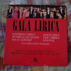 Discos de vinilo: (2LP) GALA LÍRICA MONTSERRAT CABALLÉ, VICTORIA DE LOS ÁNGELES, ANA M.ª GONZÁLEZ, ALFREDO KRAUS. Lote 27331309