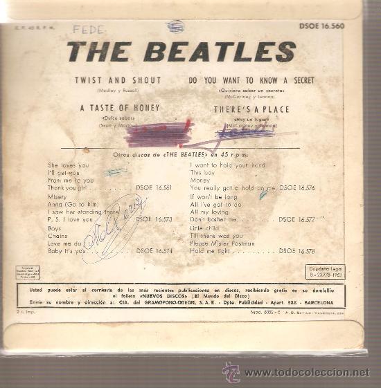 Discos de vinilo: EP THE BEATLES - TWIST AND SHOUT - Foto 2 - 22878847